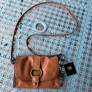 Frye Ring Crossbody - Tan